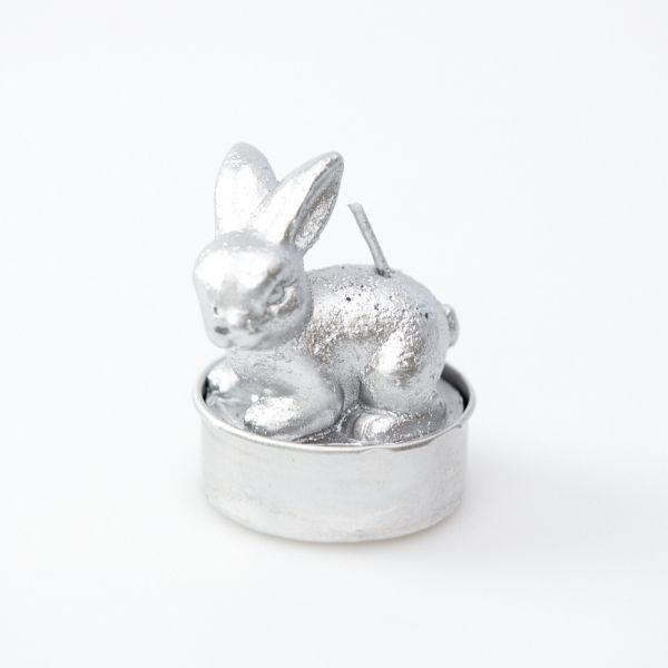 Hasenteelicht in Silber