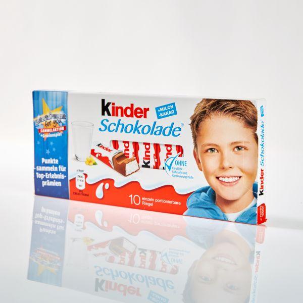 Kinder Schokolade 10 Riegel / 125 g