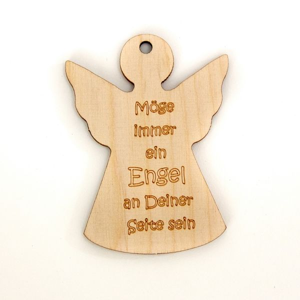 """Holzengel """"Möge immer ein Engel an Deiner Seite sein"""""""