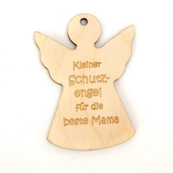 """Holzengel """"Kleiner Schutzengel für die beste Mama"""""""