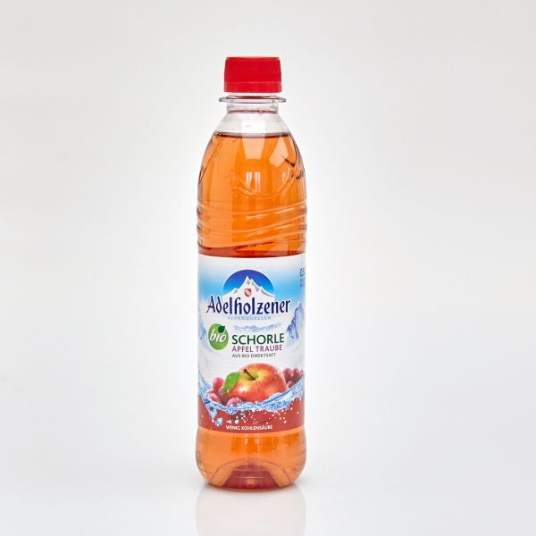 Adelholzener Bio Schorle Apfel Traube (0,5 l PET)