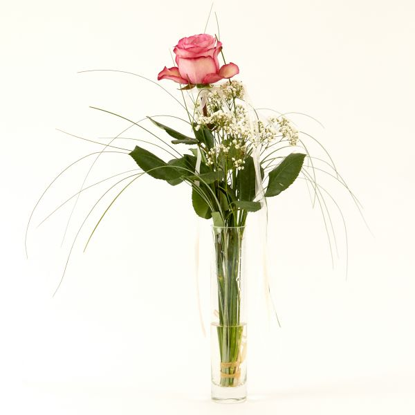 """Blumengruß """"Roséfarbene Rose"""""""