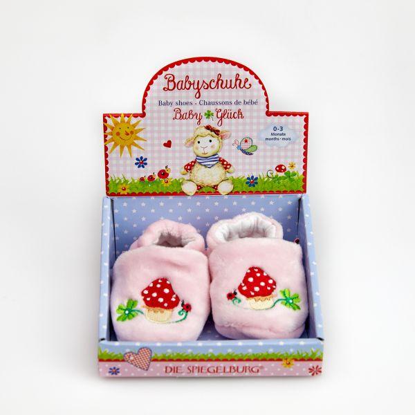 Babyschuhe BabyGlück, rosa (one size)