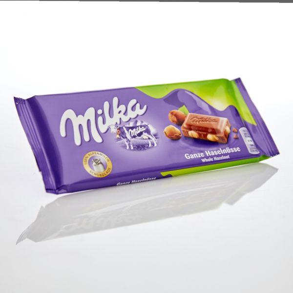 Milka Ganze Haselnüsse 100 g